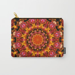 Glittering Gold Mandala, Dance of Jewels and Gems Carry-All Pouch