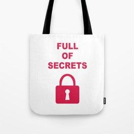 Full of Secrets Lock Tote Bag