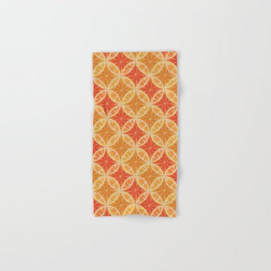 Orange Slice Pattern Hand & Bath Towel