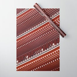 Pagoda roof pattern Wrapping Paper