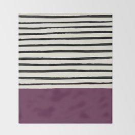 Plum x Stripes Throw Blanket
