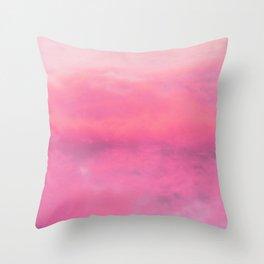 Abstract, Pink, Modern art, Art, Minimal, Wall art Print Throw Pillow