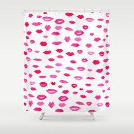 Kiss Kiss Bang Bang Shower Curtain