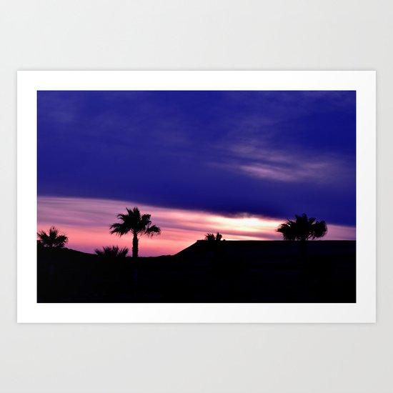 Palm Sunset - III Art Print