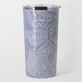 Abstract Nature in Ultraviolet Travel Mug