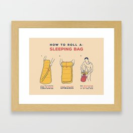 How to roll a sleeping bag Framed Art Print