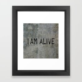 I AM ALIVE - Black - Detroit: Become Human Deviant Writing Framed Art Print