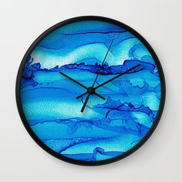 Alcohol Ink Seascape 2 Wall Clock