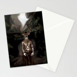 Skinwalker Navajo inspired shapeshifter with deer head Stationery Cards