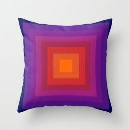 Freaky Deaky - abstract retro 70s style throwback outtasight art decor 1970s vibes Throw Pillow