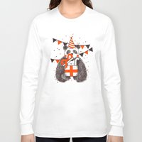 birthday Long Sleeve T-shirts featuring Happy Birthday by Tobe Fonseca