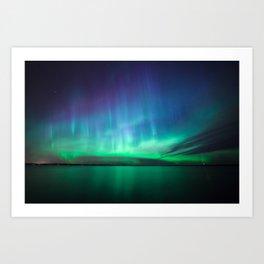 Beautiful northern lights Art Print