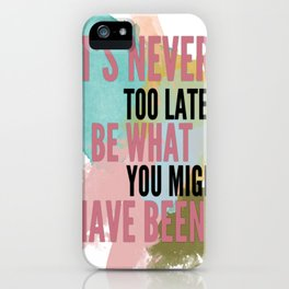 Typography iPhone Case