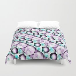 Horizontal Shadow Geometrics Lavender Duvet Cover