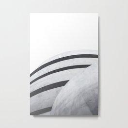 Guggenheim Museum New York Black and White Architecture Print Metal Print