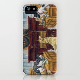 A Dog Day at Court iPhone Case