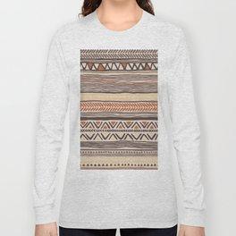 Hand Drawn Ethnic Pattern Long Sleeve T-shirt