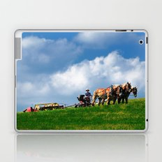 Amish farmer plowing Laptop & iPad Skin