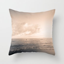 calm day ver.warmblack Throw Pillow