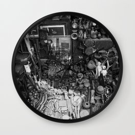 One Man's Possessions Wall Clock