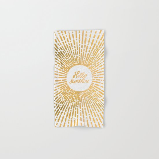 Hello Sunshine Gold Hand & Bath Towel
