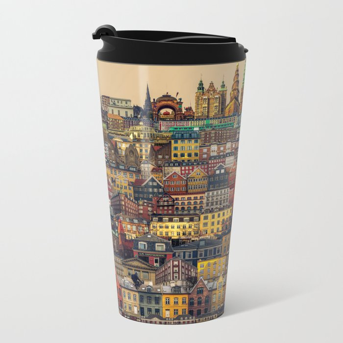 Copenhagen Facades Metal Travel Mug