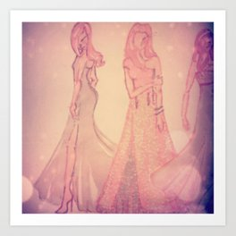 romantic brides Art Print