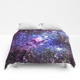 purple blue Eagle Nebula Comforters