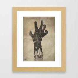 KL Zombie Fan Art Poster Framed Art Print