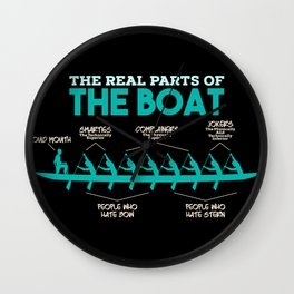 Funny Rowing Gifts - The real parts of the boat Wall Clock