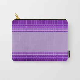 Plum Urban Geometric Carry-All Pouch