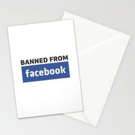 banned from facebook Stationery Cards