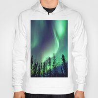 northern lights Hoodies featuring Northern Lights in Yellowknife by Vincent Demers