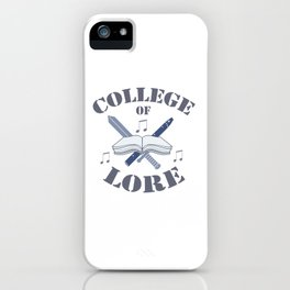 College of Lore iPhone Case