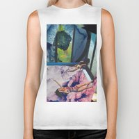 champagne Biker Tanks featuring champagne coast  by Falsework