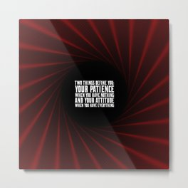 "Two things define...""Imam Ali"" Inspirational Quote Metal Print"