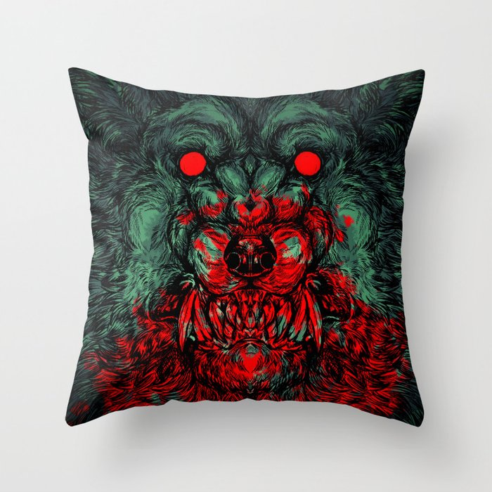 A wolf in the shape of a girl Throw Pillow by arroo Society6