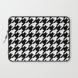 Black and white houndstooth pattern Laptop Sleeve