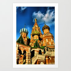 Moscow, Russia. Art Print