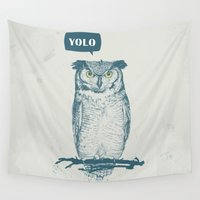 yolo Wall Tapestries featuring YOLO by Balazs Solti