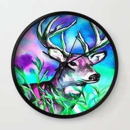 White Tail Wall Clock