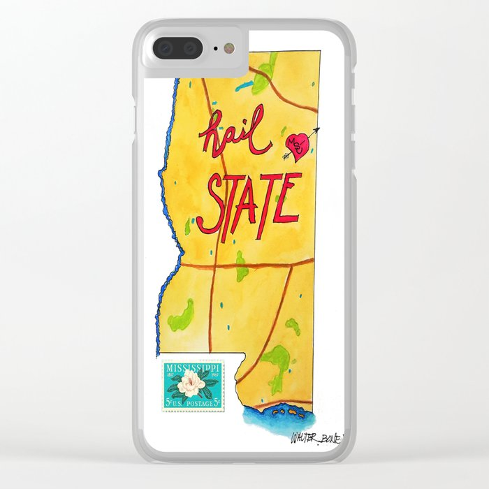 Hail State Clear iPhone Case