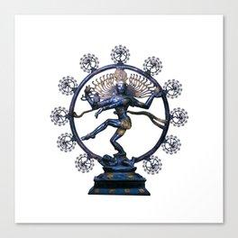 Shiva Nataraj, Lord of Dance (an actual factual fractal) Canvas Print