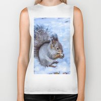 squirrel Biker Tanks featuring Squirrel  by Svetlana Korneliuk