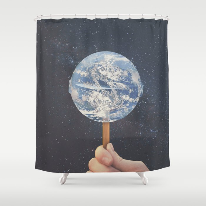Lollipop Globe Shower Curtain by christoffel | Society6