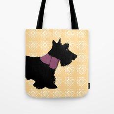 Scottie terrier in black Tote Bag
