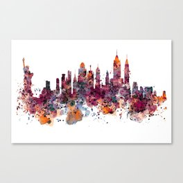 New York Skyline Silhouette Canvas Print