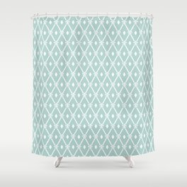 Trendy Elegant Modern Trellis Pattern Shower Curtain