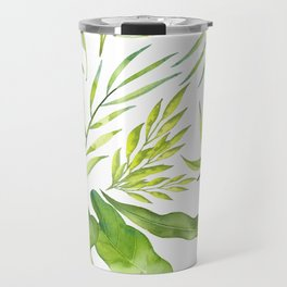 Beautiful Botanical Pattern Travel Mug