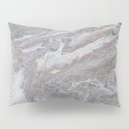 Gold, White, Grey, and Pink Pillow Sham